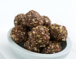 Lisa Fabry Nutrition & Yoga Therapy carob clusters